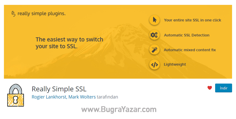Really Simple SSL Eklentisi - Buğra Yazar